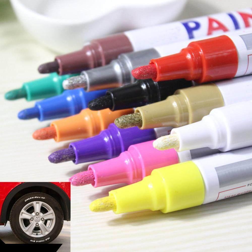 Umiwe 12 Colors Sets Fine Paint Oil Based DIY Album Metallic Art Marker PenUse On Any Surface-PaperRock PaintingGlassPlasticPotteryWood