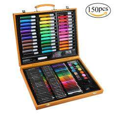 Umiwe 150-Piece Art Set In Wooden Case For Kids And Beginners