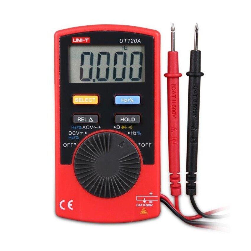 UNI-T UT120A Ukuran Saku Jenis Digital Multimeters 4000 Countdisplay Otomatis Jarak Continuity Bel Tegangan DC Meter Penguji-Internasional