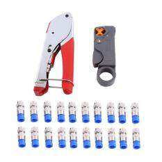 Universal Design Coaxial Cable Wire Stripper RG6/RG59 Compression F Connector Wire Crimping Pliers Tool