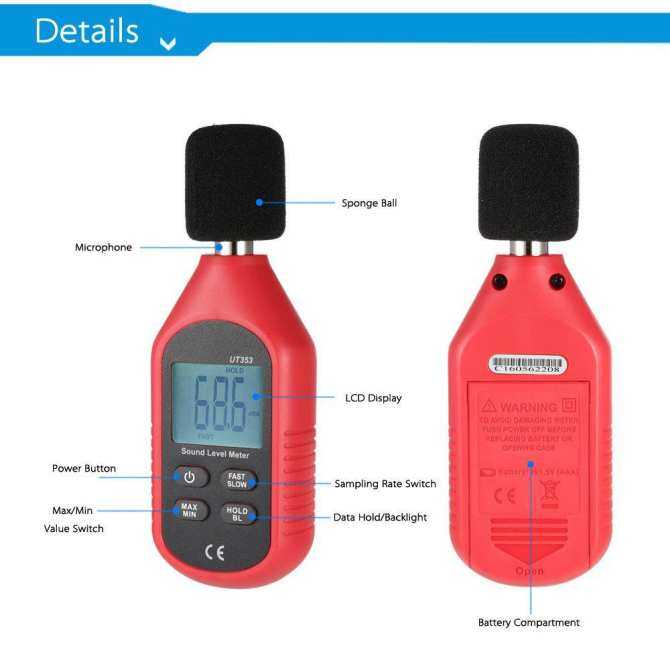 UT353 Digital Mini Sound Level Meter Noise Decibel Tester 30 130dB Measure New .