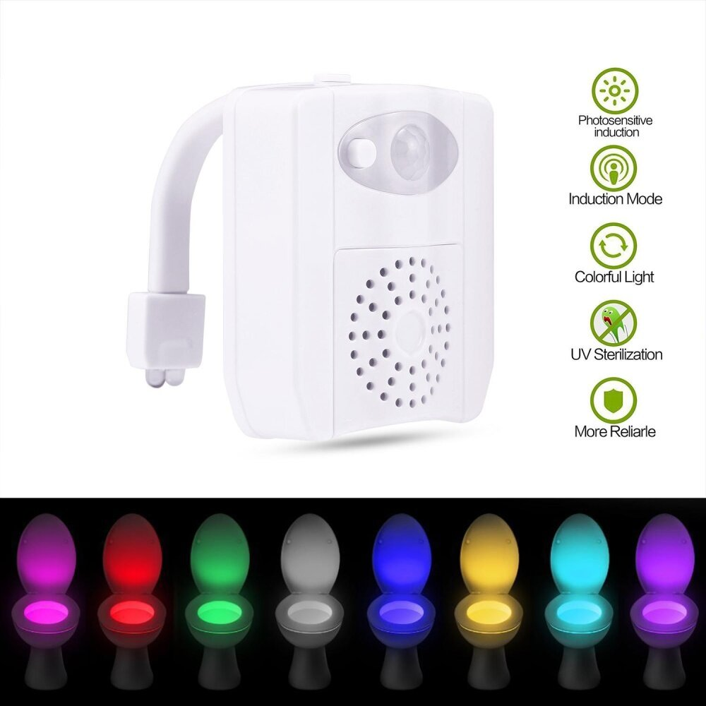 UV Sterilizer Aromatherapy Toilet Night Light Motion Activated Led Toilet Seat Light With 16 Variational Colors ,Sensor Toilet Bowl Light Changing - intl