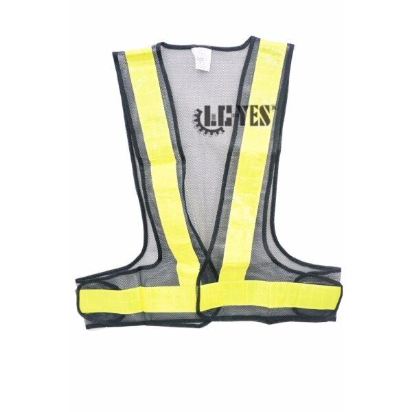 Durable Vanker New Safety Reflective Vest Visibility Security Stripes Waistcoat Protective Black +Yellow Stripe