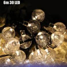 VCT - SIC055 Christmas Tree Decors 6m 30 LED Solar String Light Bubble Shape Lamp Xmas Tree Ornament