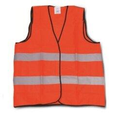 [CORATED] Velco Thin Reflective Safety Vest Coat (Neon Orange)