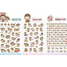 Velishy Cartoon Girl Diary Planner Stickers 6sheets By Veli Shy.
