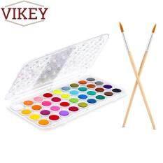Mua VIKEY 36 Màu Màu Nước Nghệ Sĩ Sơn Bộ Nhựa Bảng Nắp Ốp Lưng và Bút Lông-Watersoluable Bánh Kèm 2 Bút Lông