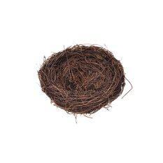 Veli shy Vine Made Bird Nest with Polystyrene Egg for home garden Decoration Nature Craft 10 Number