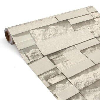 Antik 3D Brick Wallpaper Gulungan 45 Cm X 10 M Bata Diri Adhesivewall Gulungan Kertas Dekorasi Rumah Toko Anti-Air dinding Stiker-Internasional