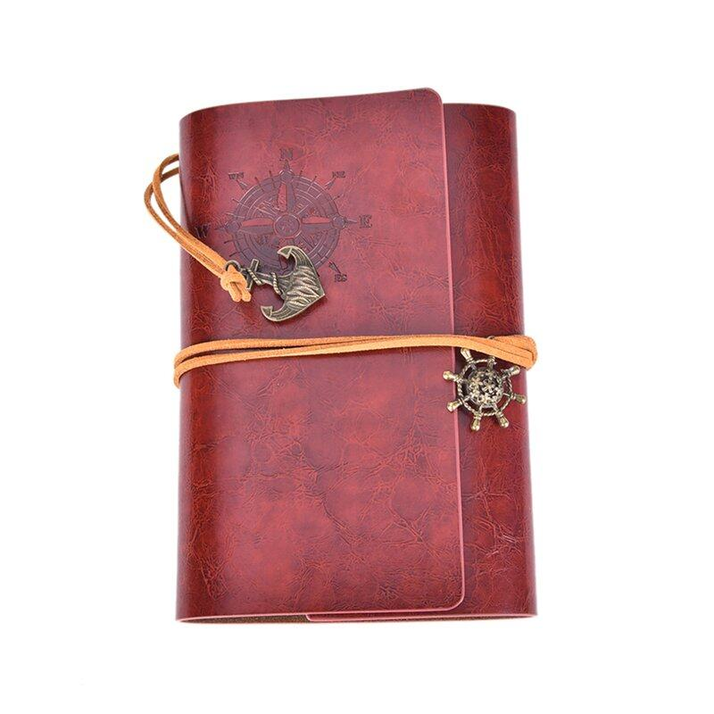 Mua Vintage Classic Retro Leather Journal Travel Notepad Notebook Blank Diary Red Brown - intl