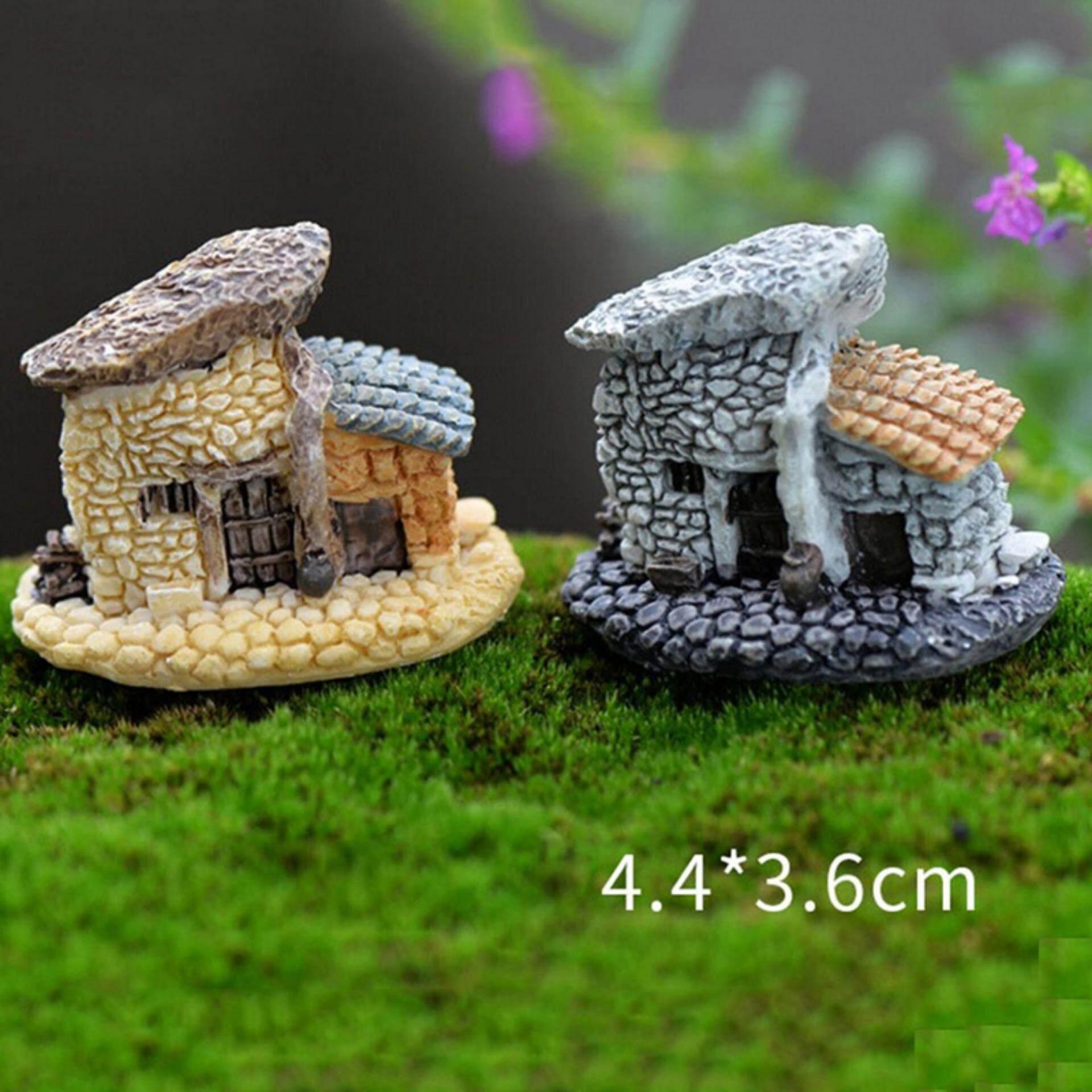 Antik Rumah Mini Ature Peri Taman Rumah Rumah Dekorasi Mini Kerajinan Mikro Landscaping Dekor DIY Aksesoris Jenis 2-Internasional