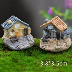 Vintage Houses Miniature Fairy Garden Home Houses Decoration Mini Craft Micro Landscaping Decor Diy Accessories Type1 - intl