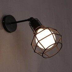 Oem home wall lights sconces price in malaysia best oem home vintage iron american wall lamp modern black wall lights for bedroom hallway wall sconce retro indoor aloadofball Image collections