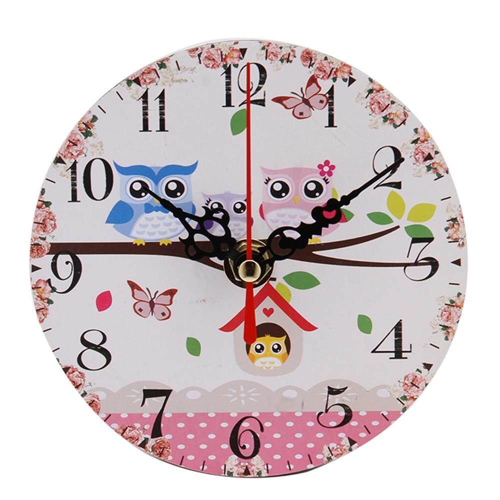 YBC 3D Wall Clock Iron Birds Pendulum Mute Quartz Clock For Home Decoration