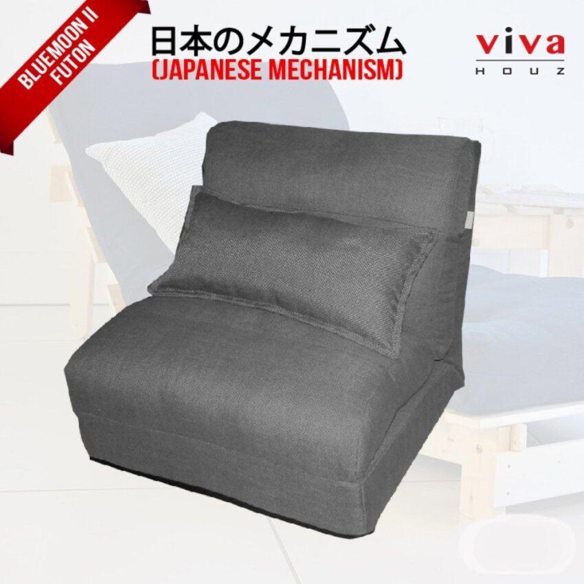 Viva Houz Bluemoon II  Futon/ Sofa / Chair  Made In Malaysia (Grey)