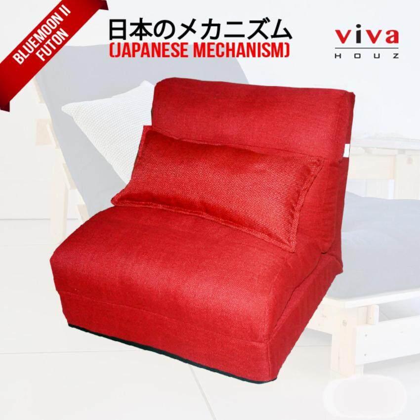Viva Houz Bluemoon II  Futon/ Sofa / Chair  Made In Malaysia (Red)