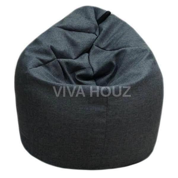 Viva Houz Giant Bean Bag Chair Sofa L Size Classic Grey Lazada
