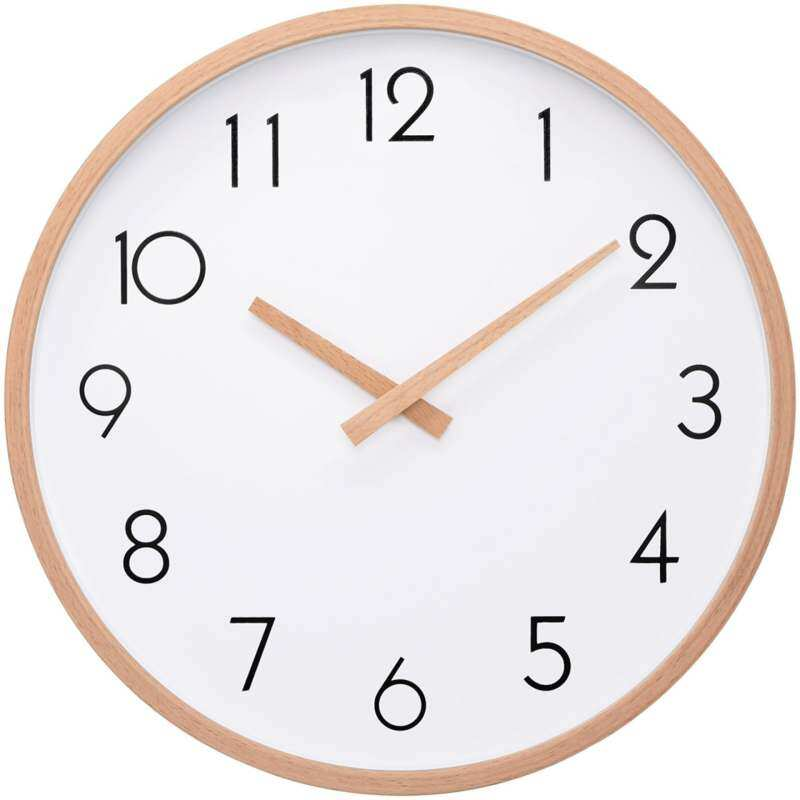 Wall Clock Wood 14 Silent Large Wood Wall Clocks Digital Wall Clock Non Ticking For Kitchen Room Vintage Home Decor (Number)