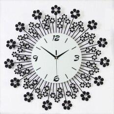 European wall clock roses fashion art creative living room bedroom mute clock