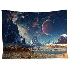Wall Hanging Tapestry Milky Way Map Starry Sky  Colour:Moon Mountains Size:130X150cm