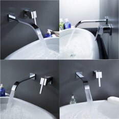 Wall Mount Chrome Brass Single Handle Kitchen Bathroom Tub Sink Faucet Mix Tap