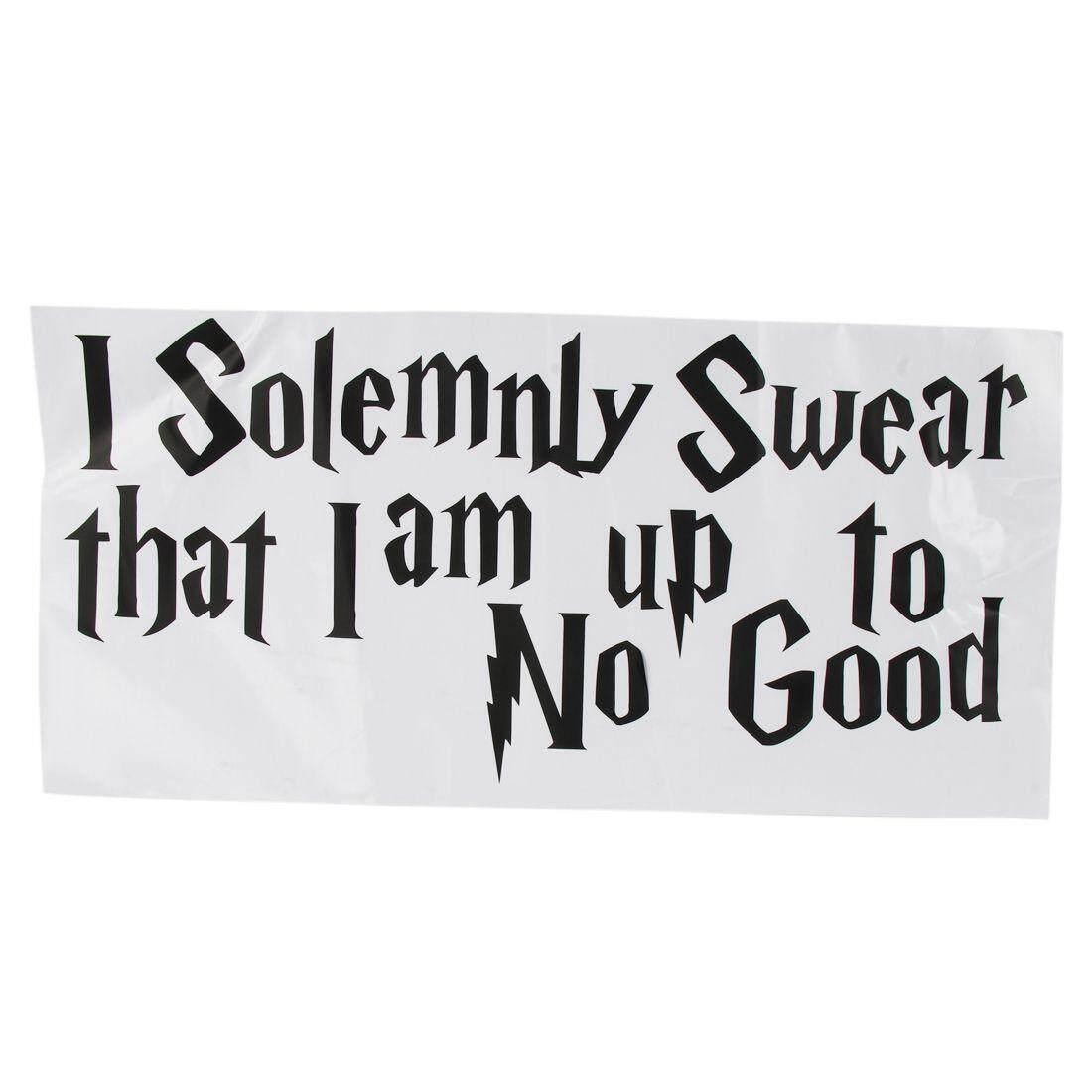 Dinding Stiker Stiker Quote Saya dengan Sungguh-sungguh Bersumpah Aku Sampai Tidak Ada Yang Baik