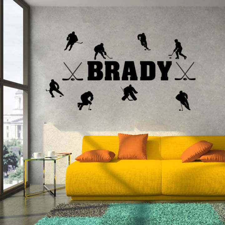 Wall Stickers Living Room Bedroom Background Decorative Hockey Sports Background Stickers Sports Wall Stickers Wallpaper Wall Painting