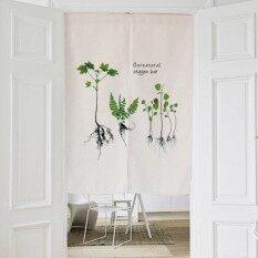 Washable Cotton Linen Kitchen Curtain Bedroom Door Curtain Durable Door Valance Half Curtain Door Screens 80x90CM