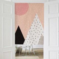 Washable Cotton Linen Kitchen Curtain Bedroom Door Curtains with Rod Elegant Door Valance Half Curtain Door Screens 80X90CM