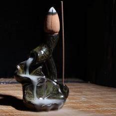 Water Lily Ceramic Glaze Incense Burner Holder Sandalwood Backflow Censer By Bokeda Store.
