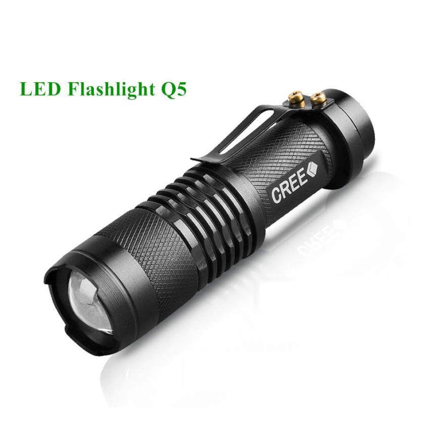 EverGreen Waterproof Mini LED Flashlight High Power 2000lm Led Flash Light 3 Modes Zoomable LED Torch Light (Without Battery) - intl