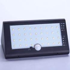 Dsstyles Anti-Air Gerakan Sensor Lampu Surya dengan 35 LED 4 Mode USB Baterai Isi Ulang, tenaga Surya Bertenaga Lampu Dinding Luar Ruangan Nirkabel untuk Halaman, Taman, Teras