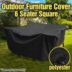 Waterproof Outdoor Pvc Coated Polyester Waterproof 6 Seater Furniture Cover