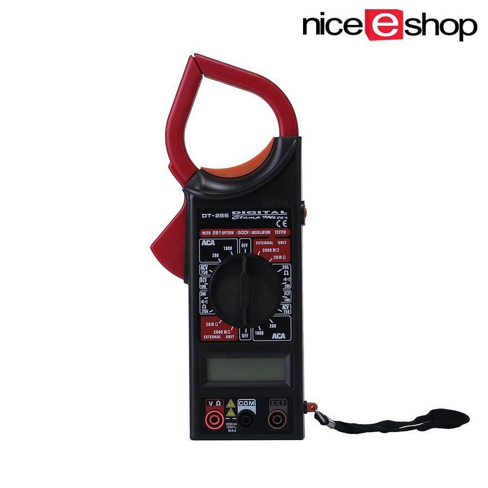 Noonbof Digital Multimeter Elektronik Penjepit Meter Ammeter Voltmeter Ohmmeter Penguji Isolasi (Merah)-InternasionalIDR188000