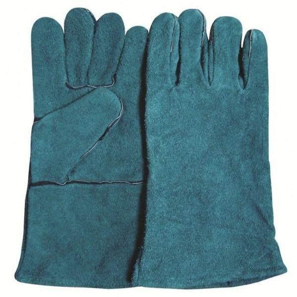 WELDING HAND GLOVE FULLY LEATHER 13 GREEN 22WGFL013G