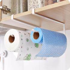MYR 36 (White)Kitchen Paper Holder Hanging Tissue Towel Rack Bathroom Toilet Roll Paper Towel Holder Kitchen Cabinet Storage ...