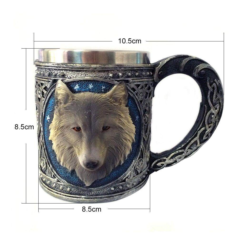 Where Can You Buy Womdee 3D Stainless Steel Resin 8 Style Creative Coffee Tea Cup Mug Wolf Skull Designed Cups Intl