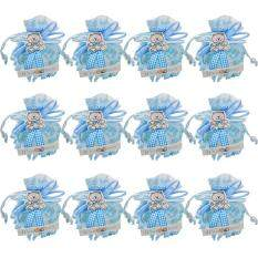 Womdee Candy Boxes Small Birthday Gift Boy Baby Decorations Treat Box SuppliesBlue