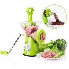 Womdee Meat Grinder,Stainless Steel Plates,Powerful Suction Base,Hand Crank For Meat,Veggies,Nuts