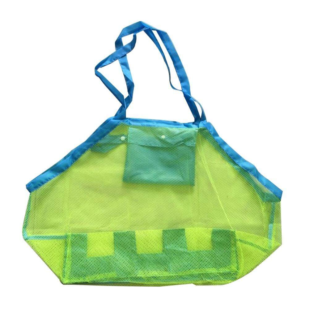 dick Sdadas® Large Beach Mesh Storage Bag Folding Handbag Shopping Tote Bags - intl