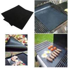 Womdee Supoia® 2pcs Family Party Non Stick Teflon BBQ Liners Oven Grill Foil Barbecue Liner Reusable Mat