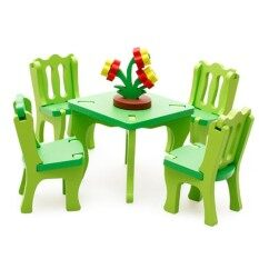 Wooden Blocks Dining Room Set For Children