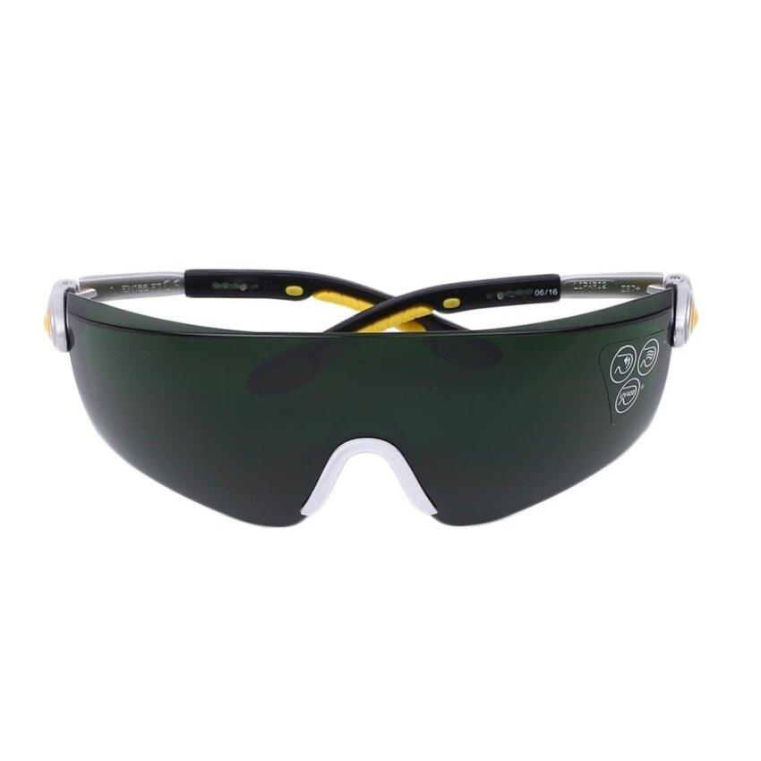 Huade Safety Hitam Anti Gores Anti-Dampak Kacamata Las Kacamata Hijau Lensa-Intl