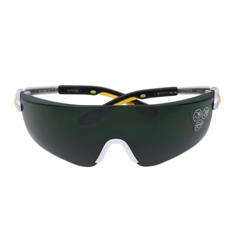HUADE Black Safety Anti-Scratch Anti-Impact Welding Glasses Goggles Green Lens
