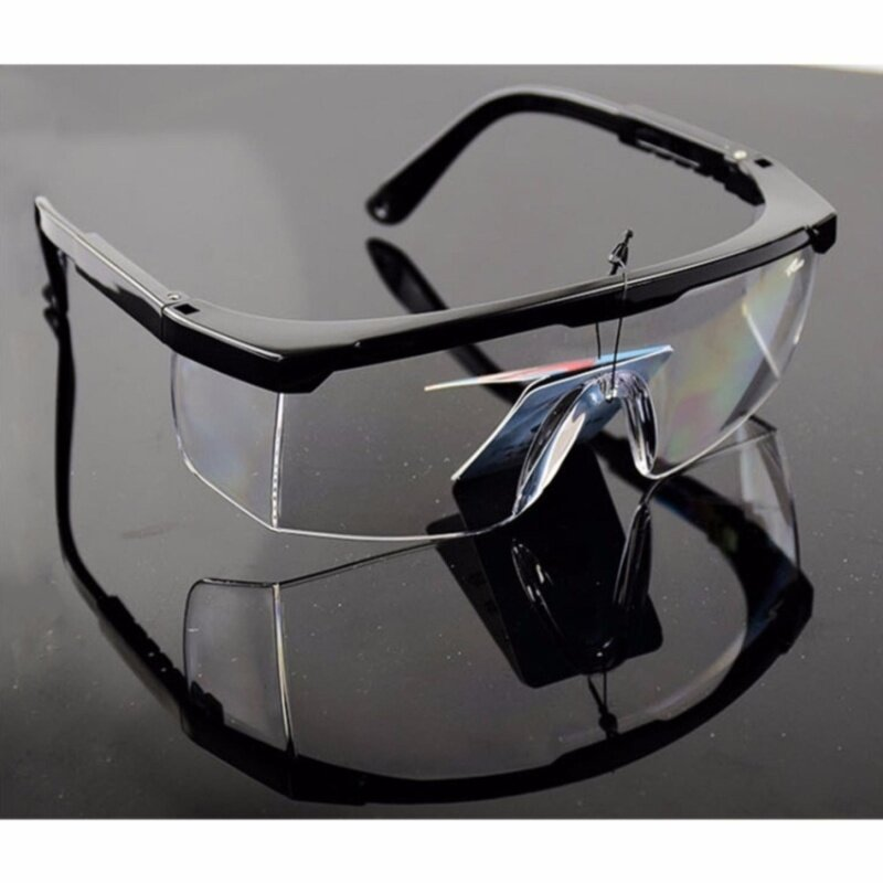 Z-Direct Safety Glasses With Clear Anti Fog Scratch Resistant Wrap-Around Lenses And No-Slip Grips, Uv Protection. Adjustable, Black Frames