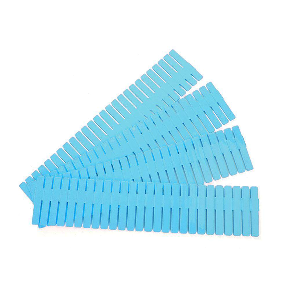 Wuzeyu 4 Pcs Laci Divider Piring Partisi Laci Finishing Grid Kombinasi Gratis Storagepartitions dari Plastik Kreatif, biru-Internasional