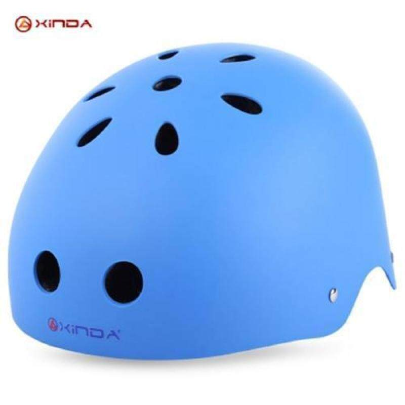 XINDA ADJUSTABLE MOUNTAINEERING HELMET HEAD SAFETY GUARD PROTECTIVE GEAR RESCUE TOOL (BLUE), Blue (L)