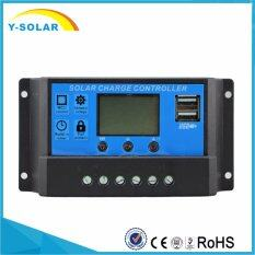 Y-SOLAR 10A LCD Solar Controller dual USB output 5V Mobile Charger 12/24V  Solar Panel battery Charge Controller Regulator 10 Amps