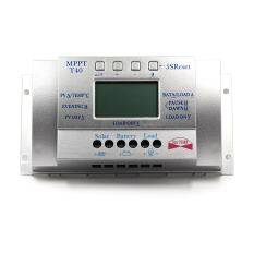 Y-SOLAR Solar Panel Battery Charge Controller MPPT PWM Voltage Settable LCD  Dispaly Light And Dual Timer Control 40A 12V 24V Auto Work T40