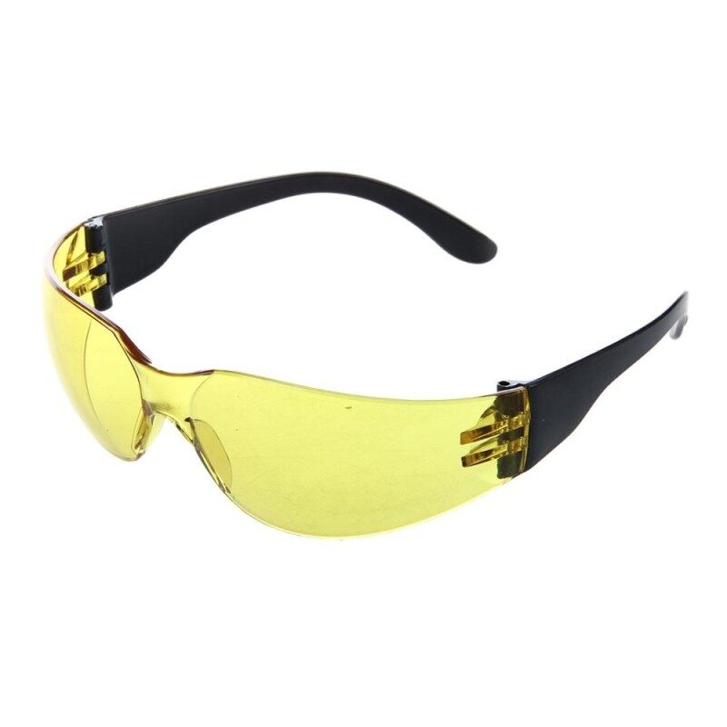 Yellow Clear Lens Indoor Outdoor Sports Safety Glasses Protective Eyewear